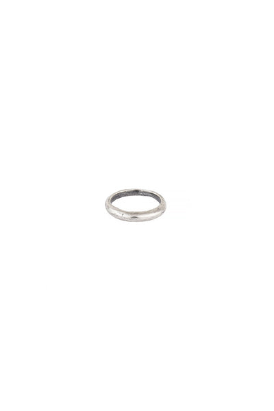 Torchlight Jewelry Small Terra Ring in Silver / Organically shaped silver ring that is perfect for stacking or wearing alone / Handmade from reclaimed metal in Los Angeles, California