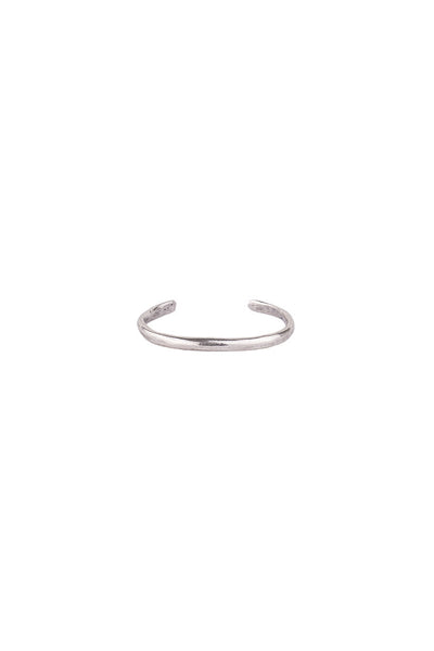 Torchlight Jewelry Terra Cuff in Silver / Organically shaped silver cuff bracelet that is perfect for stacking or wearing alone / Handmade from reclaimed metal in Los Angeles, California