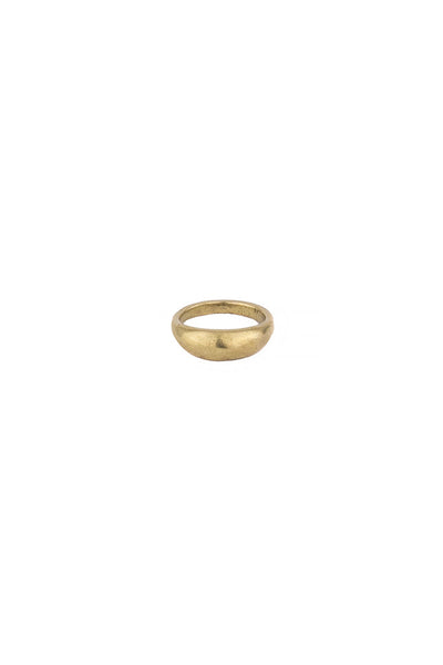 Torchlight Jewelry Terra Ring in Brass / Organically shaped silver ring that is perfect for stacking or wearing alone / Handmade from reclaimed metal in Los Angeles, California
