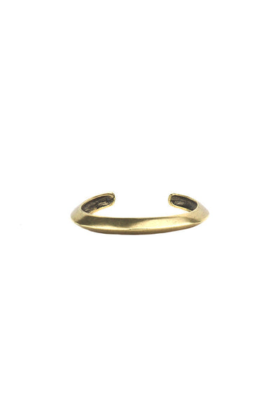 Torchlight Jewelry Thin Oros Cuff in brass / Thin beveled cuff