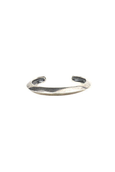 Torchlight Jewelry Thin Oros Cuff in silver / Thin beveled cuff