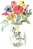Be Still and know Floral Vase - Greeting Card