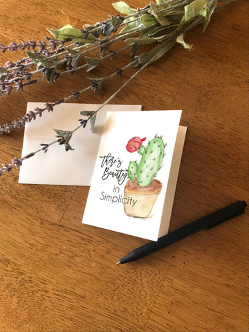Beauty in Simplicity Cactus - Greeting Card