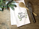 """Bless This Kitchen with Love & Laughter"" Decor Kitchen or Bathroom Towel"