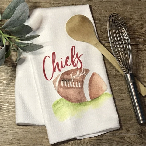 Chiefs Football Hand Towel / Kitchen Towel