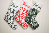 Damascus Christmas Stocking Personalized with Name on Cuff