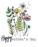 Happy Mothers Day - Wildflowers - Greeting Card