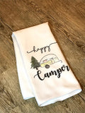"""Happy Camper"" Decor Kitchen or Bathroom Towel"