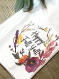 """Happy Fall Y'all""  Decor Kitchen or Bathroom Towel"