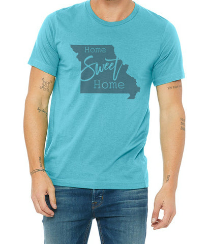 Home Sweet Home Missouri Teal Unisex T shirt