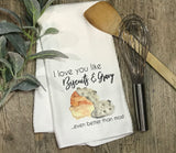I Love You Like Biscuits and Gravy - The Nadas Exclusive - Kitchen or Bathroom Towel