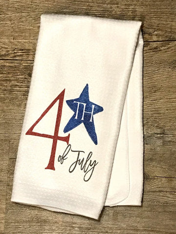 4th of July Star Patriotic Decor Kitchen or Bathroom Towel