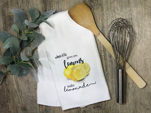 Make Lemonade Lemons Kitchen or Bathroom Towel
