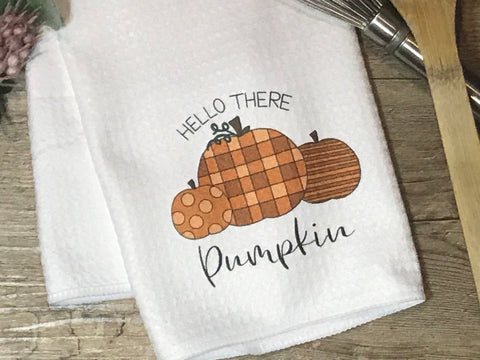 Hello There Pumpkin - Letter Louder Exclusive Tea Towel Design