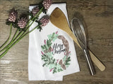 """Merry Christmas"" Decor Kitchen or Bathroom Towel"