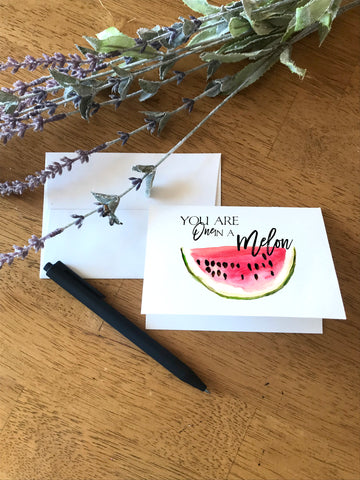 One in a Melon - Watermelon - Greeting Card