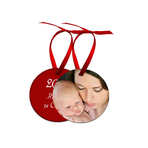 Double Sided Photo Christmas Ornament