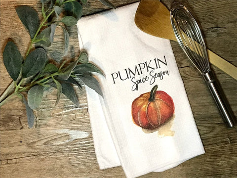 """Pumpkin Spice Season""  Decor Kitchen or Bathroom Towel"