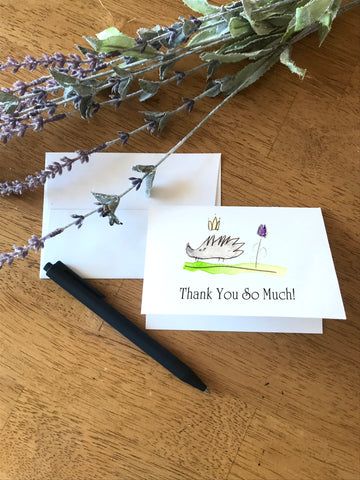Porcupine Crown - Thank you so Much - Greeting Card by Rae
