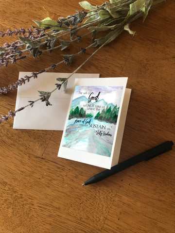 Grace of God with Mountains & River - Greeting Card