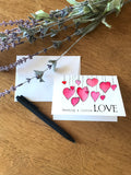Sending a Little Love Hearts - Greeting Card