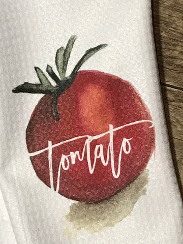 """Tomato"" Decor Kitchen or Bathroom Towel"