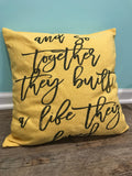 Personalized pillow case * Built a Life * Anniversary gift * wedding gift * couple gift * farmhouse pillow * custom pillow