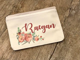 Personalized makeup bag / zippered bag / personalized