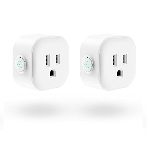 WiFi Smart Plug, Maxcio Mini Wireless Remote Control Electrical Smart Plug Mini Outlet, Compatible with Amazon Alexa and Google Home- 2 Packs - Cool Smart Home