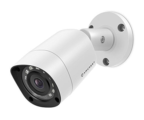 Amcrest UltraHD 4MP HD-Analog 1520P 2688TVL Bullet Outdoor Security Camera, 4MP 2688x1520, 65ft Night Vision, IP67 Weatherproof, 99.7° Viewing Angle, White (AMC4MBC28-W) - Cool Smart Home