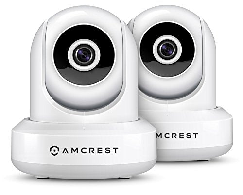 Amcrest 2-Pack HDSeries 720P WiFi Wireless IP Security Surveillance Camera System IPM-721 (White) - Cool Smart Home