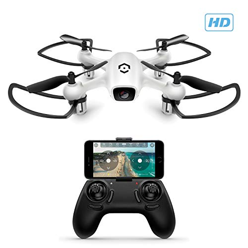 Amcrest A4-W Skyview WiFi FPV Drone Quadcopter w/Camera HD 720P, Training Drone for Beginner & Kids, RC + 2.4ghz WiFi Helicopter w/Remote Control, Headless Mode, Smartphone Control (White) - Cool Smart Home