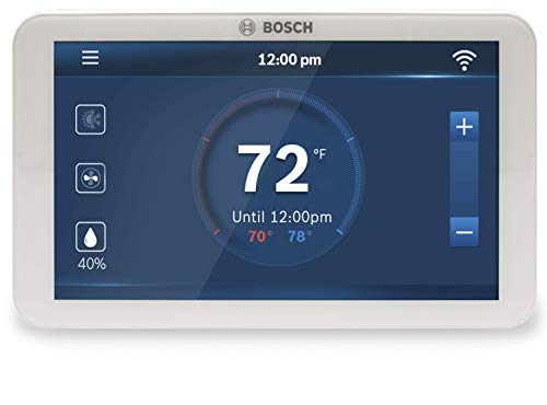 Bosch BCC100 Connected Control Smart Phone Wi-Fi Thermostat - Compatible with Alexa - Touch Screen - Cool Smart Home