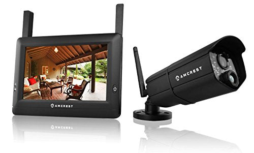 Amcrest WLD895 720P 4CH 7-Inch Wireless Video Surveillance System with One HD Wireless Bullet IP66 Weatherproof Camera and Wireless 7-Inch Touch-Screen Monitor - Cool Smart Home