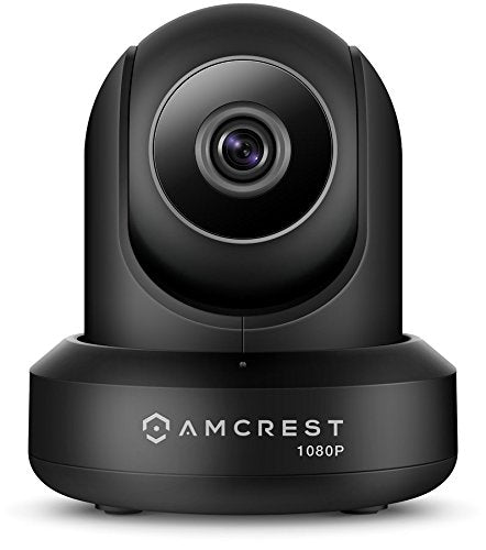 Amcrest ProHD 1080P POE (Power Over Ethernet) IP Camera with Pan/Tilt, Two-Way Audio, Optional Cloud Recording, Wide 90° Viewing Angle and Night Vision IP2M-841EB (Black) (Certified Refurbished) - Cool Smart Home