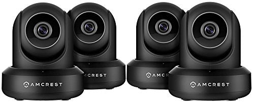 4-Pack Amcrest ProHD 1080P WiFi/Wireless IP Security Camera IP2M-841 (Black) - Cool Smart Home