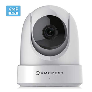 Amcrest 4MP UltraHD Indoor WiFi Camera, Security IP Camera with Pan/Tilt, Two-Way Audio, Night Vision, Remote Viewing, Dual-Band 5ghz/2.4ghz, 4-Megapixel @~20FPS, Wide 120° FOV. IP4M-1051W (White) - Cool Smart Home