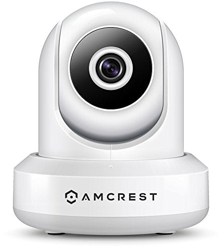 Amcrest ProHD 1080P POE (Power Over Ethernet) IP Camera with Pan/Tilt, Two-Way Audio, Optional Cloud Recording, Full HD (1920TVL) @ 30FPS, Wide 90° Viewing Angle and Night Vision IP2M-841E (White) - Cool Smart Home