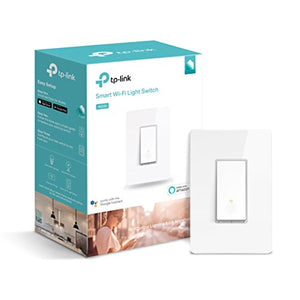 Kasa Smart Wi-Fi Light Switch by TP-Link - Control Lighting from Anywhere, Easy In-Wall Installation (Single-Pole Only), No Hub Required, Works With Alexa and Google Assistant (HS200) - Cool Smart Home