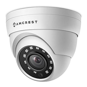 Amcrest UltraHD 4MP HD-Analog Dome Outdoor Security Camera, 4MP 2688x1520, 65ft Night Vision, IP67 Weatherproof Metal Housing, 2.8mm Lens, 99.7° Viewing Angle, 4MP @15fps, White (AMC4MDM28-W) - Cool Smart Home