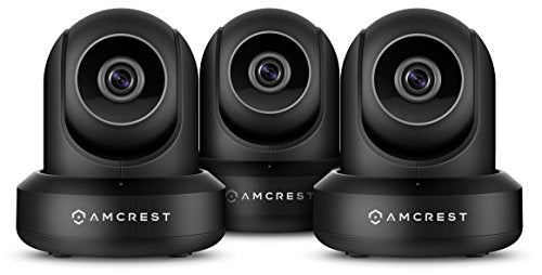 Amcrest 3-Pack ProHD 1080P WiFi/Wireless IP Security Camera Pan/Tilt, 2-Way Audio, Optional Cloud Recording, Full HD 1080P 2MP, Super Wide 90° Viewing Angle, Night Vision, IP2M-841 (Black) - Cool Smart Home