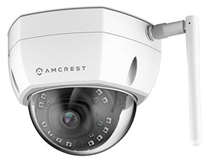 Amcrest ProHD Fixed Outdoor 4-Megapixel (2688 x 1520P) Wi-Fi Vandal Dome IP Security Camera - IP67 Weatherproof, IK10 Vandal-Proof, McroSD Capabilty, 4MP (2688 x 1520P), IP4M-1028W (White) - Cool Smart Home