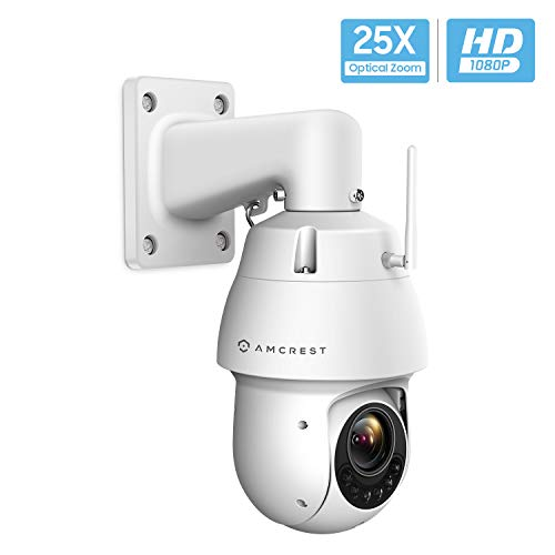 Amcrest 1080P WiFi Outdoor PTZ PoE+ IP Camera Pan Tilt Zoom (25x Optical Zoom) Wireless Security Camera Speed Dome, 328ft Night Vision, IP66 Weatherproof, 2-Megapixel, IP2M-858W - Cool Smart Home