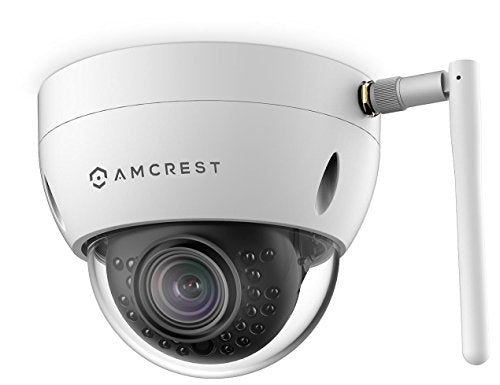 Amcrest ProHD Fixed Outdoor 3-Megapixel (2304 x 1296P) Wi-Fi Vandal Dome IP Security Camera - IP67 Weatherproof, IK10 Vandal-Proof, 3MP (1080P/1296P), IP3M-956W (White) - Cool Smart Home