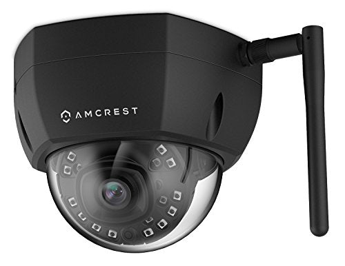 Amcrest ProHD Outdoor 2 Megapixel WiFi Wireless Vandal Dome IP Security Camera - IP67 Weatherproof, 2MP (1920 TVL), IP2M-851B (Black) - Cool Smart Home