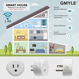 GMYLE 4 Pack Wifi Smart Plug Mini Outlet Power Control Socket, Remote Control Your Electric Devices from Anywhere, No Hub Required, Work with Amazon Alexa Echo Dot & Google Home, White - Cool Smart Home