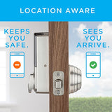 Kwikset Kevo (2nd Gen) Touch-to-Open Bluetooth Smart Lock, Works with Amazon Alexa via Kevo Plus, in Satin Nickel - Cool Smart Home