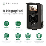 "Amcrest 720P HD Game and Trail Camera - 8MP Dynamic Capture, Integrated 2"" LCD Screen, High-Sensitivity Motion Detection with Long Range Infrared LED Night Vision up to 65ft (ATC-802) - Cool Smart Home"