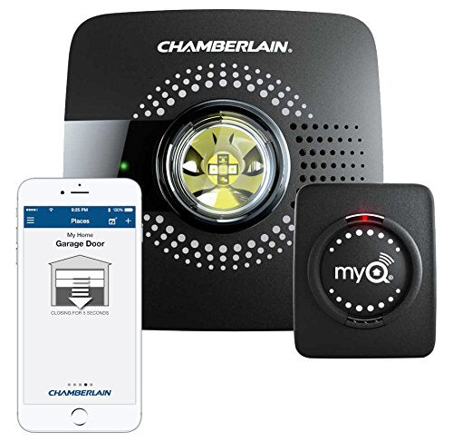 MyQ Smart Garage Door Opener Chamberlain MYQ-G0301 - Wireless & Wi-Fi enabled Garage Hub with Smartphone Control - Cool Smart Home