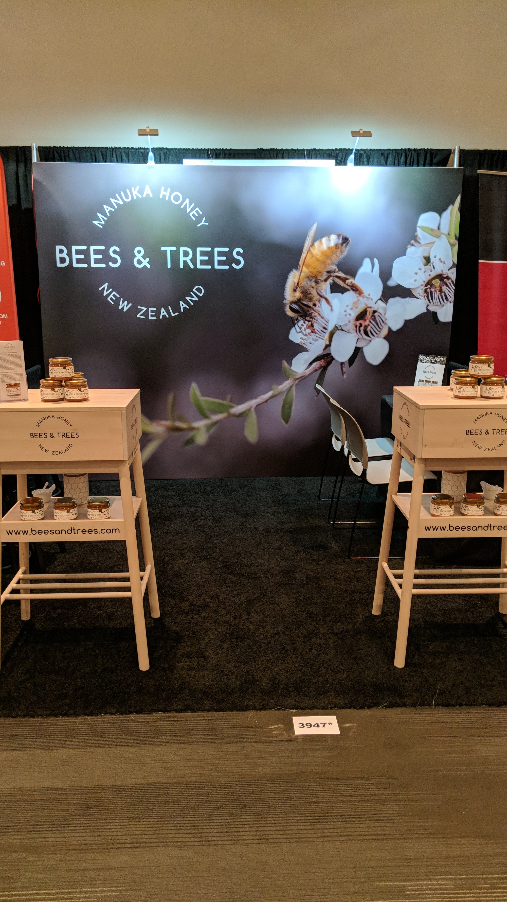 Bees & Trees Tradeshow Booth
